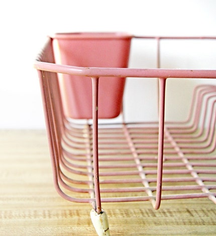 Pink Dish Drying Rack
