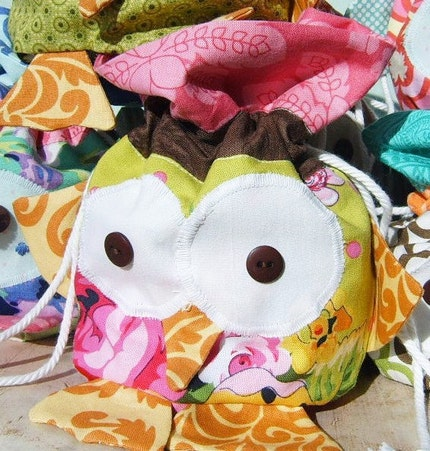 PDF Pattern - Baby Big Eyes Drawstring Owl Bag
