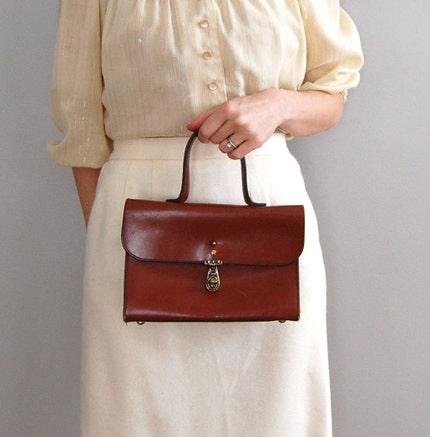 vintage RUSSET Etienne Aigner satchel