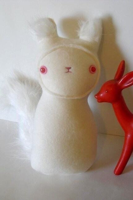 Crimson- The Creepy Cute Albino Squirrel - made to order