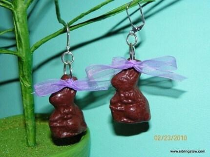Chocolate Bunny Earrings