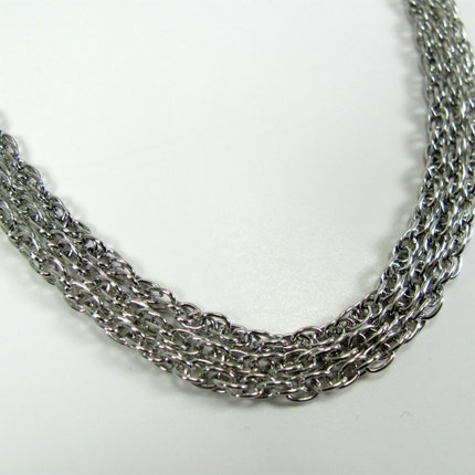 Silver Plated Rope Style 18 inch Necklaces - 3