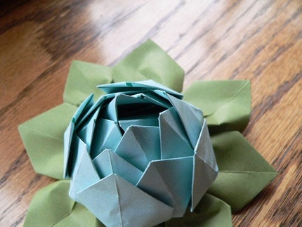 Origami Lotus Flower Decoration or Favor by fishandlotus on Etsy flower