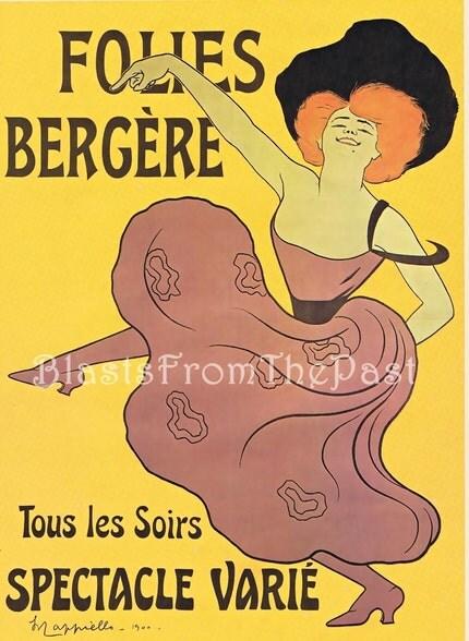 1977 FOLIES BERGERE 'Tous les Soirs' c. 1900 -- OVERSIZED 11X16