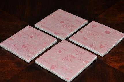Pink Cupcake Coaster Set by iamladycupcake