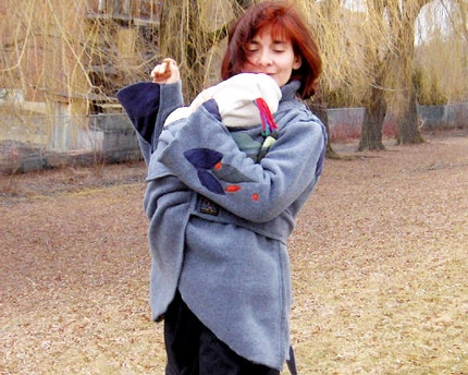 BabyWearing Wraparound Jacket for BOTH Back or Front Carry