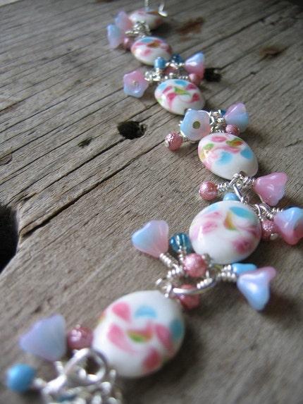 Spring Fling Lampwork Charm Bracelet