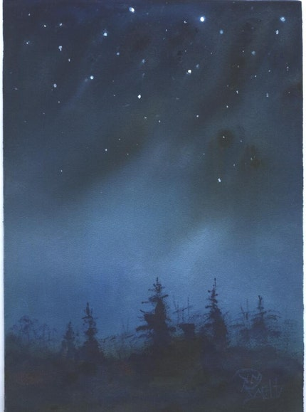 DUSK celestial landscape painting by Jim Smeltz