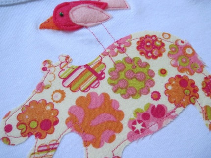 SALE - Hungry Hippo Applique Onesie