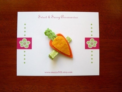 Crunchy Carrot - Fun Felt Clip