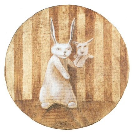 Soon Our Fortunes Will Be Made, My Darling (print mounted on wood)