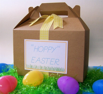 Easter Gable Party Boxes / lunch box/ party favors
