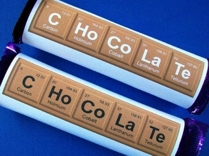 Science Elements - Cadbury Chocolate Bar Personalized Wrapper - Printable PDF Download