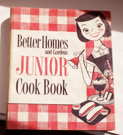 Better Homes and Gardens Junior Cookbook 1955 First Edition