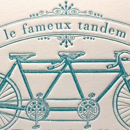 Famous Bicycle Built for Two in Blue