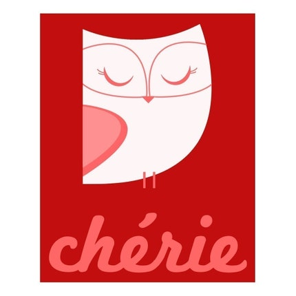 Cherie (Darling Owl) - 8 x 10 Archival Giclee Print