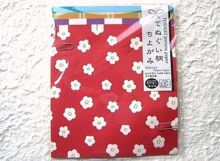 Beautiful Japanese Paper Set TENUGUI Cloth Pattern Papers