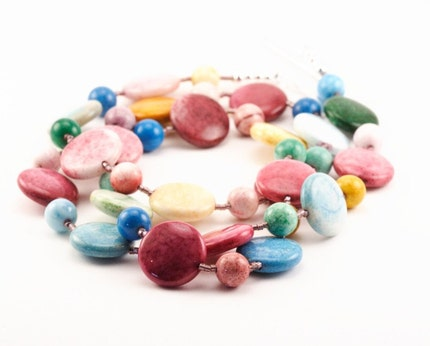 Pastel Smartie Necklace - Great Easter Gift