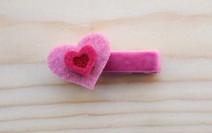 Soft Hearted Hair Clip