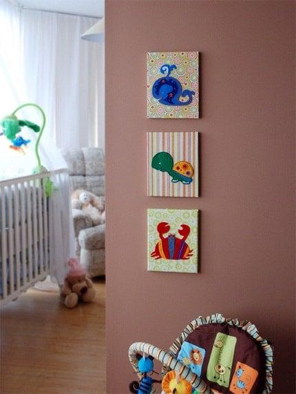 Kids Wall Art - Aquatic Applique Collection