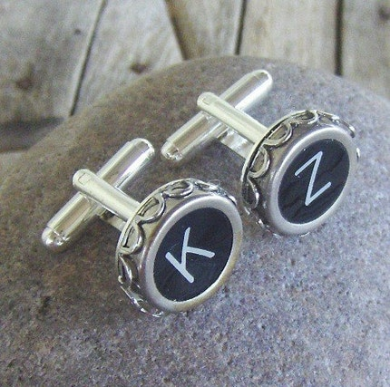 Vintage Typewriter Key Cufflinks - Pick your Letters