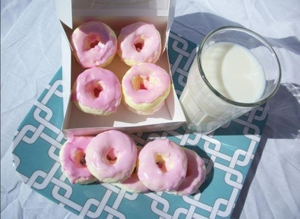 Yummy Yummy Chocolate Doughnuts with Strawberry Icing Soap