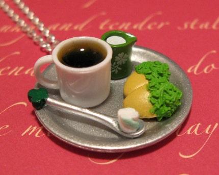 Irish Coffee Break Necklace / Pendant
