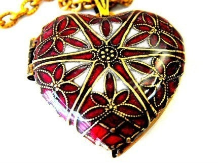 Sterling Silver Oval Cross Engraved Locket with Love Tattoo Detail Inside, Heart Locket Deep Red by RotsinaCreations on Etsy : baby shower filigree