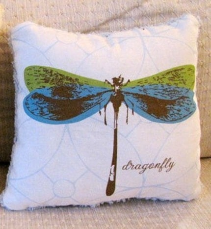 Dragonfly Decorative 8x8 inch Pillow