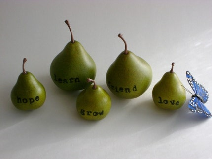 personalized pear - LOVE