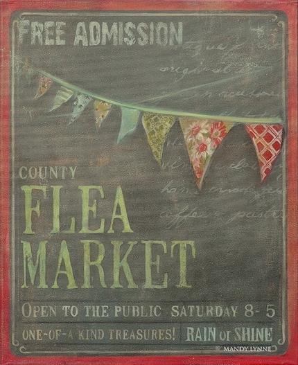 Flea Market  16x20