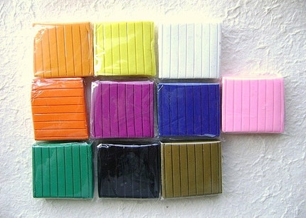 Polymer Clay Set 10 Colors 50 Grams Each
