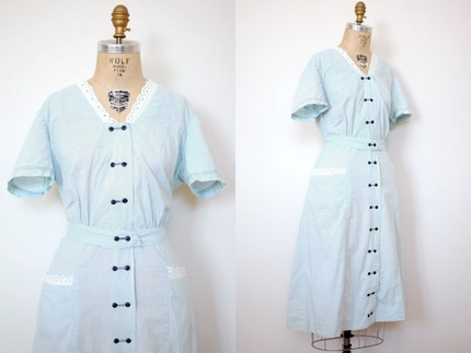 vintage 1940s Powder Town Dress (40s)