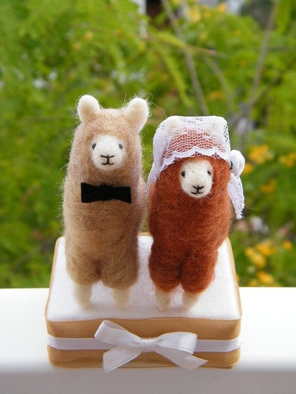 llamas in love wedding cake toper SALE