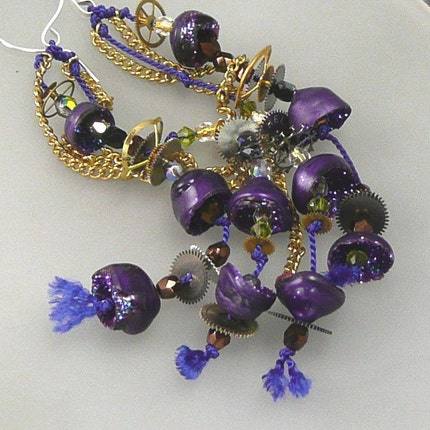 Playful, Purple Polymer Dangles