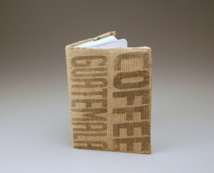 Recycled Guatemalan Burlap Coffee Sketch/Composition Book Cover