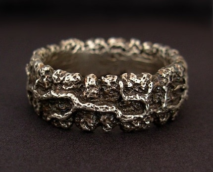 creeping vine ring - men's size 10, 9, 11, 12, 13 - sterling silver