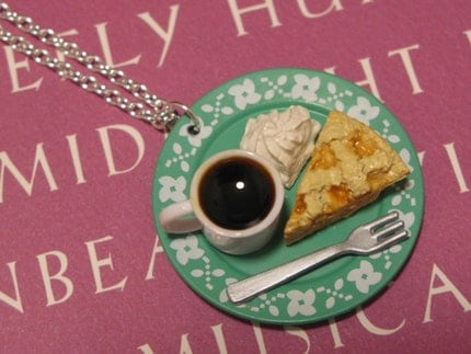 Coffee and Apple Pie Necklace / Pendant