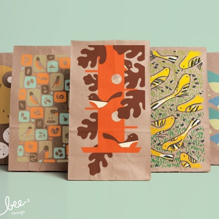 modern birds snack sacks