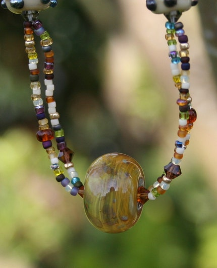 Planetary Lampwork Necklace