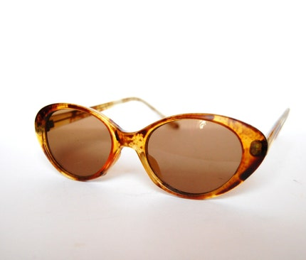 Vintage cat eye sunglasses brown Germany by RetroEyewear on Etsy from etsy.com