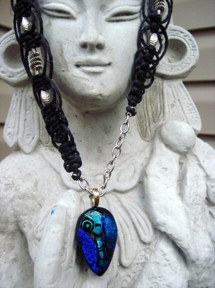 Hemp Necklace- Jazzy Blues