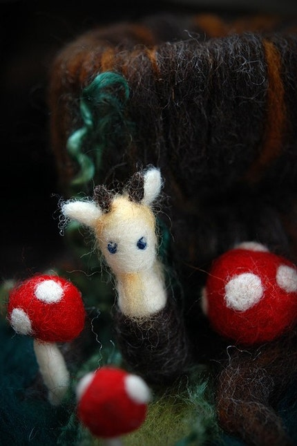 Satyr, Mini Felted Forest Friend