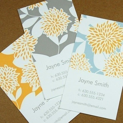 Modern Floral calling cards (Quant. 50 - others available)