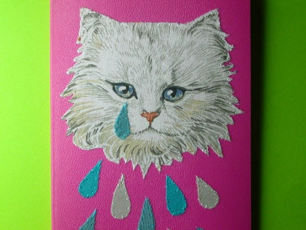 weeping kitten pocket notebook