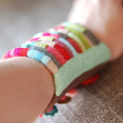 fiber cuff in bright colors nO.468
