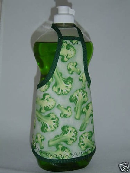 Broccoli Healthy Green Dish Soap Bottle Apron Cover Fun