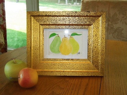 Original Pear Watercolor Painting