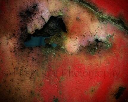 Rusty Red  Wheelbarrow