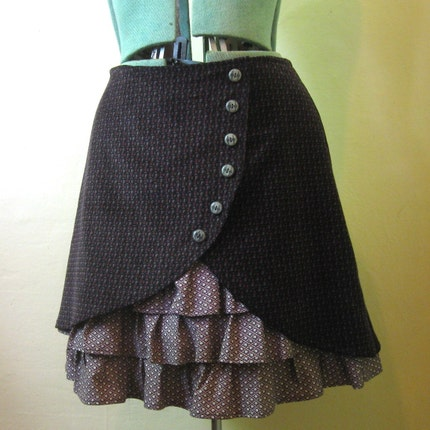 Meet Me In The Library ruffle front skirt